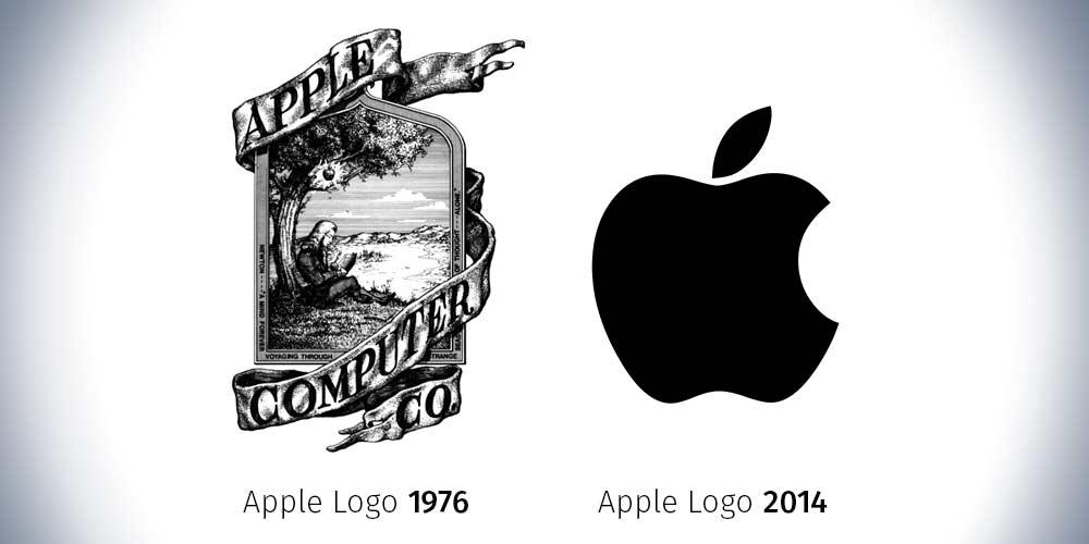 Gutes Logo? Apple 1976 und 2014
