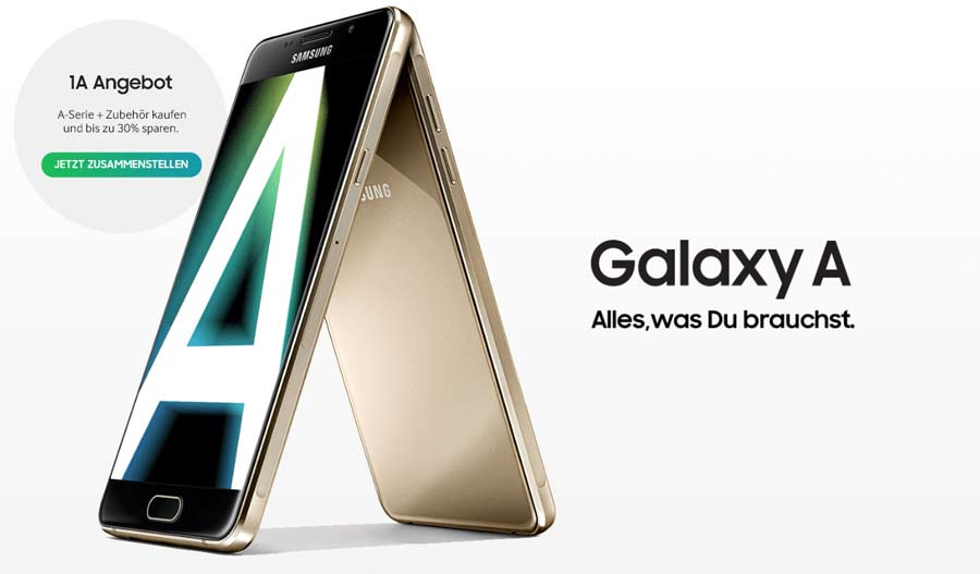 Werbung für die aktuellen Samsung Galaxy A Handys