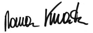 Unterschrift Roman Kmenta