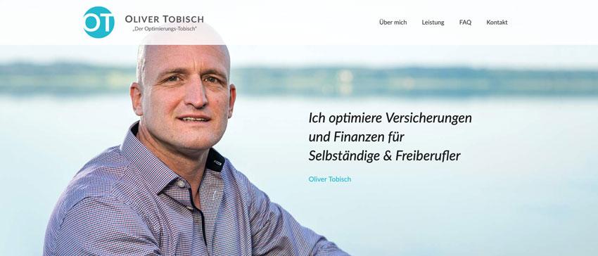 Oliver Tobisch Website Screenshot