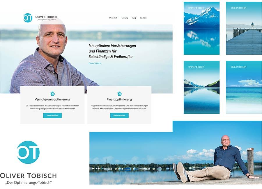 Neuer, einladender Markenauftritt von Oliver Tobisch mit entspannten Motiven am See