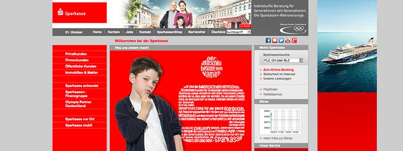 Bilderwelten Bank: Sparkasse