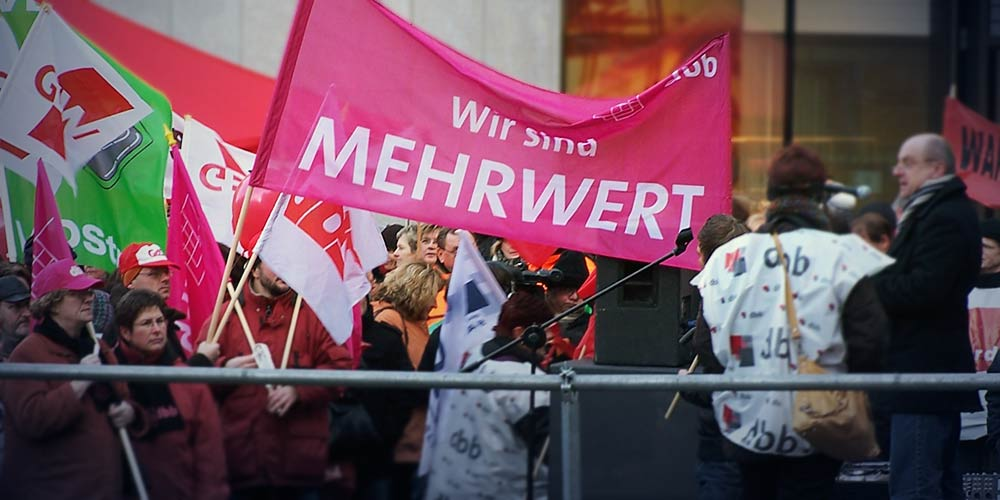 Mehrwert – Verdi-Demonstration 2012