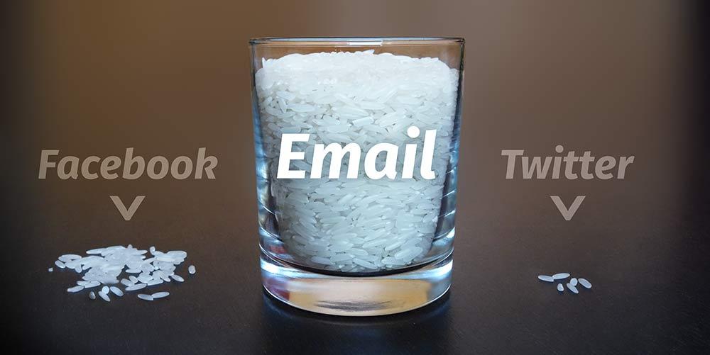 Email-Liste vs. Facebook und Twitter