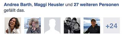 Netzwerken unter Freunden: 29 Facebook Likes