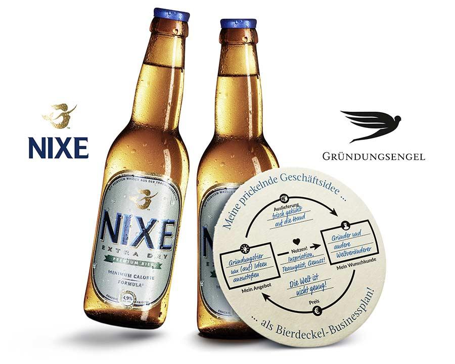 Gründungsengel Kooperation mit Nixe und dem Bierdeckel Businessplan