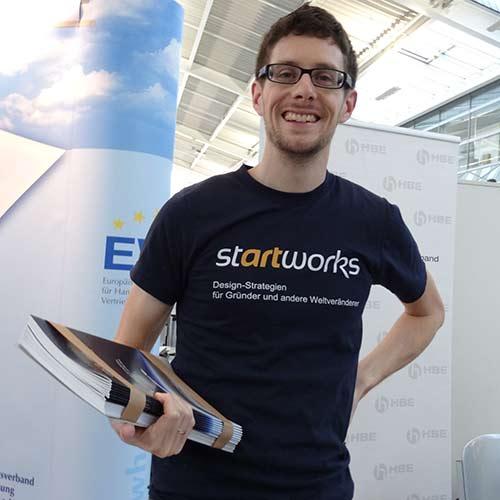 Ein Freiberufler auf der Existenz-Gründermesse: Matthias Barth von Startworks
