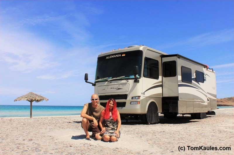 Tom Kaules mit seiner Frau auf Tour