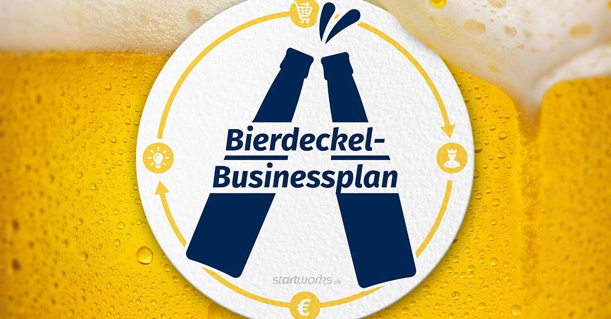 Der handlichste Businessplan der Welt – auf einem Bierdeckel