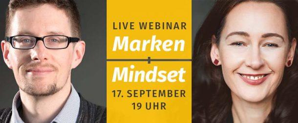 Marken Mindset Webinar am 17.9.