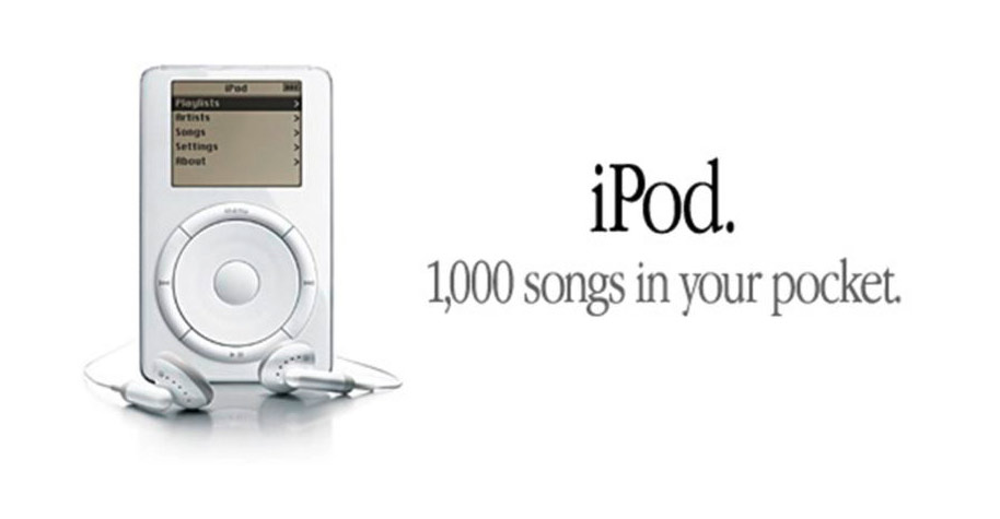 Apple Werbung: iPod – 1.000 songs in your pocket